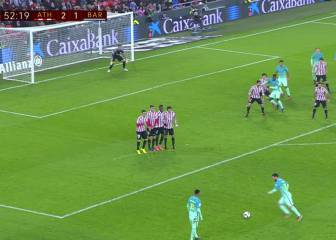 Vean el gol de Messi de libre directo: ayudó Irazoiz