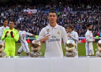 Cristiano ofreció el Balón de Oro al público del Bernabéu