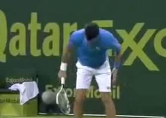 Djokovic mostró así su frustración: pobre raqueta