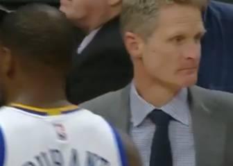Kerr pidió un tiempo muerto... ¡a los 18 segundos de partido!