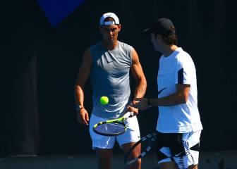 Nadal ya se ejercita en Melbourne con Carlos Moyá