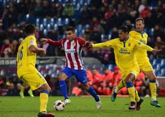 El Atlético se mete en cuartos tras dormirse ante Las Palmas
