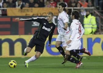¿Recuerdan cuando Benzema era un clon de Ronaldo? En Sevilla, sí