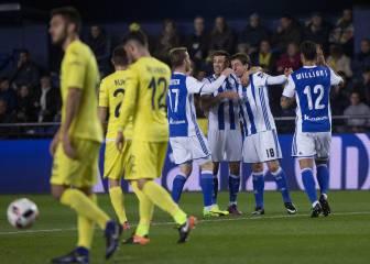 Oyarzabal hace resistir a la Real Sociedad en El Madrigal