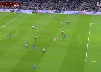 Gol mal anulado a Luis Suárez por fuera de juego de Neymar