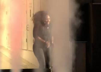Casi le da algo: el susto que se llevó Serena al saltar a la pista