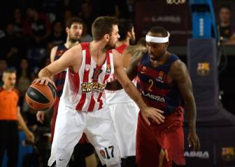 El Olympiacos gana en el Palau y deja al Barça muy tocado
