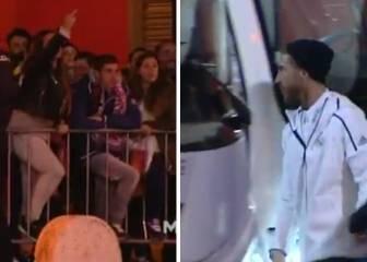 Así fue la salida de Ramos del Pizjuán tras su polémico gesto