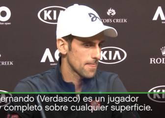 La mejor versión de Djokovic: cataratas de elogios a Verdasco