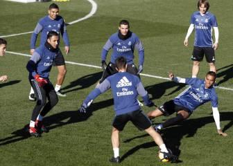 Último entrenamiento antes del Sevilla sin Isco ni James