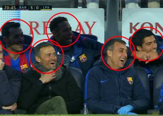 Vidal's first goal for Barcelona has bench in fits of giggles