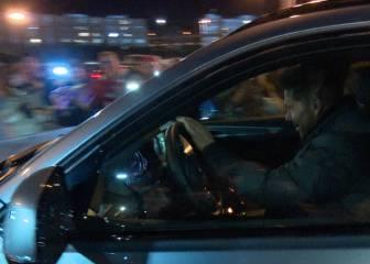 La felicidad de Simeone a la salida del Calderón: ¡Qué bocinazos!