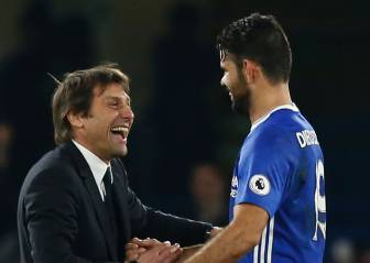 Conte blames back injury for Costa's absence