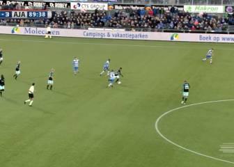 El increíble debut con el Ajax de Justin, el hijo de Kluivert