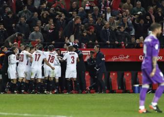 El Sevilla remonta al final y se impone al Madrid en el Pizjuán