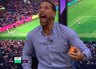 Ferdinand se volvió loco con el gol de Ibra: corazón 'red devil'
