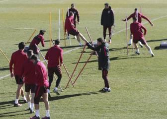 Los de Simeone entrenan con la mirada puesta en la ida de Copa