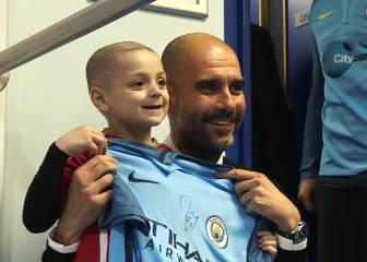 'Chapéu' Guardiola: detallazo con un niño que batalla al cáncer