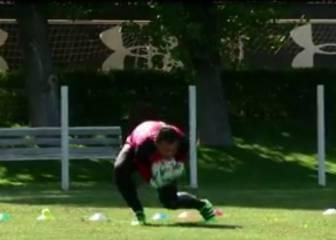 Así trabaja Justo Villar para ponerse a punto tras lesión