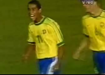 La joyita de Ronaldinho ante Uruguay en el torneo del '99