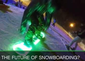 Snowboarding in the dark