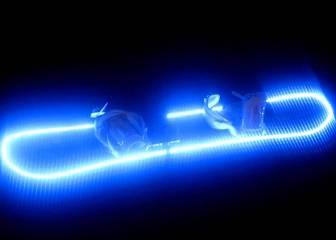 LED lights up snowboarding