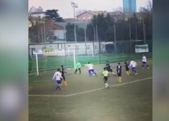 Messi eat your heart out: this player beats seven and scores!