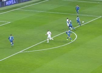 ¿Hubo penalti de Cabral a Cristiano en el minuto 39?