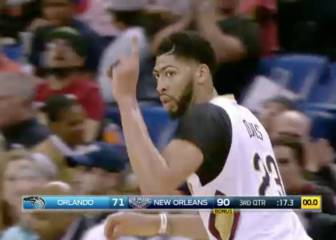 Anthony Davis sella el triunfo de los Pelicans ante los Magic