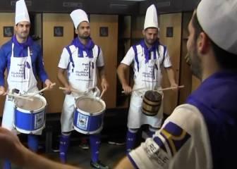 Real Sociedad players join in San Sebastian drum festival fun