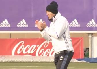 El Madrid se entrena tras el tropiezo copero ante el Celta