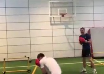 Bale knocks out physio trainer in boxing session