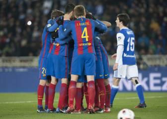 Un gol de penalti de Neymar pone en ventaja al Barça