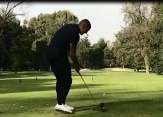 Castillo mostró en Instagram su afición por el golf
