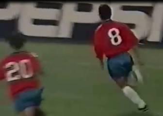 Sudamericano '99: golazo de Pizarro al Brasil de Ronaldinho