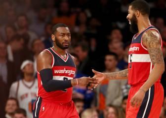 Wall marca la diferencia para los Wizards pese a un gran Carmelo