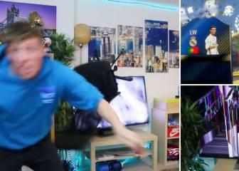 El youtuber más loco destroza su tele al tocarle Cristiano en el FIFA