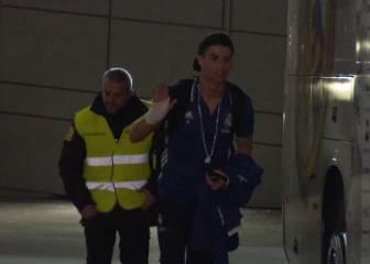 Susto en el Madrid: Cristiano aparece con una mano vendada