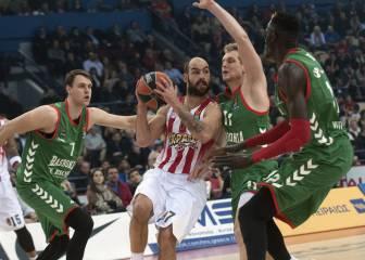 El Olympiacos gana con solvencia a un flojo Baskonia