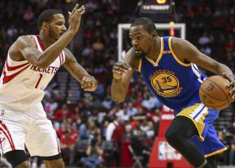 Durant y los Warriors superan a los Rockets de Harden