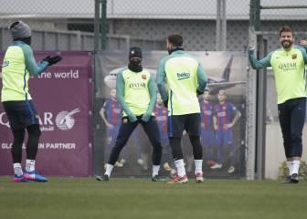 Iniesta y Rafinha, únicas bajas en el último entreno del Barcelona