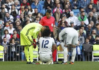 Zidane se queda sin sus laterales titulares: lesión de Marcelo
