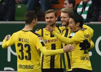 El Dortmund regresa del parón con una victoria en Bremen