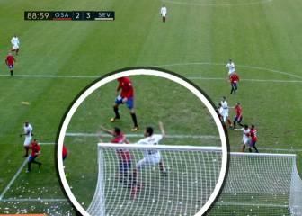 Esta es la acción que indignó a Osasuna: pidió falta en el 2-3