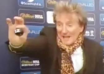 El show de Rod Stewart en sorteo de la Copa de Escocia