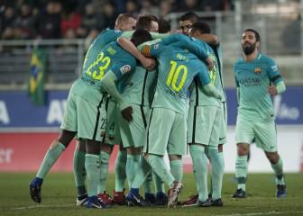Los goles del Barcelona en su victoria ante Eibar