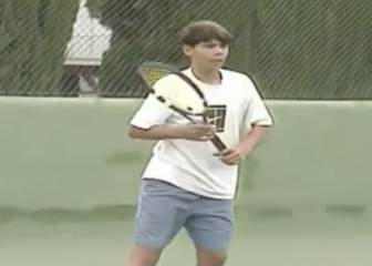 How it all started for Rafa Nadal... the Roland Garros champion playing as a kid