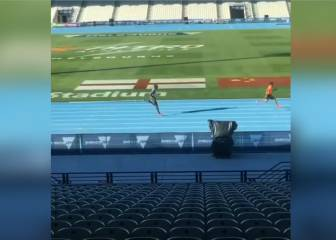What happens when Usain Bolt hands you a 30m headstart?