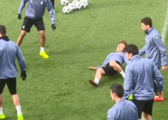 Luka Modric at centre of injury scare in Real Madrid training