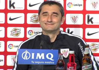 Athletic boss Ernesto Valverde smiles at